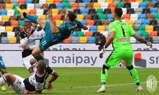 Gol Salto Ibrahimovic, Penentu Kemenangan Milan 2-1 atas Udinese