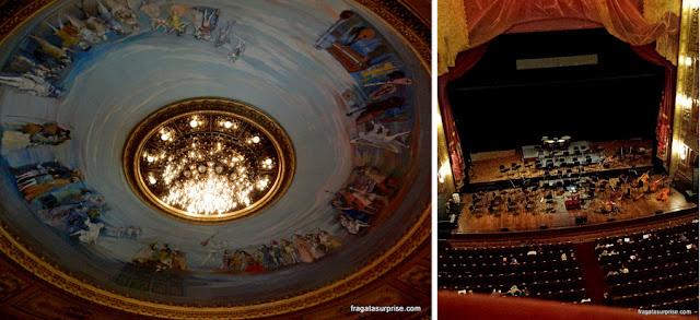 Decoração interior do Teatro Colón de Buenos Aires