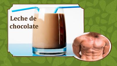 leche de chocolate para los musculos