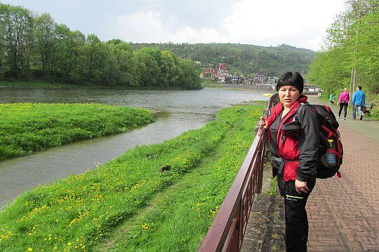 Nad Dunajcem przed Szczawnicą.