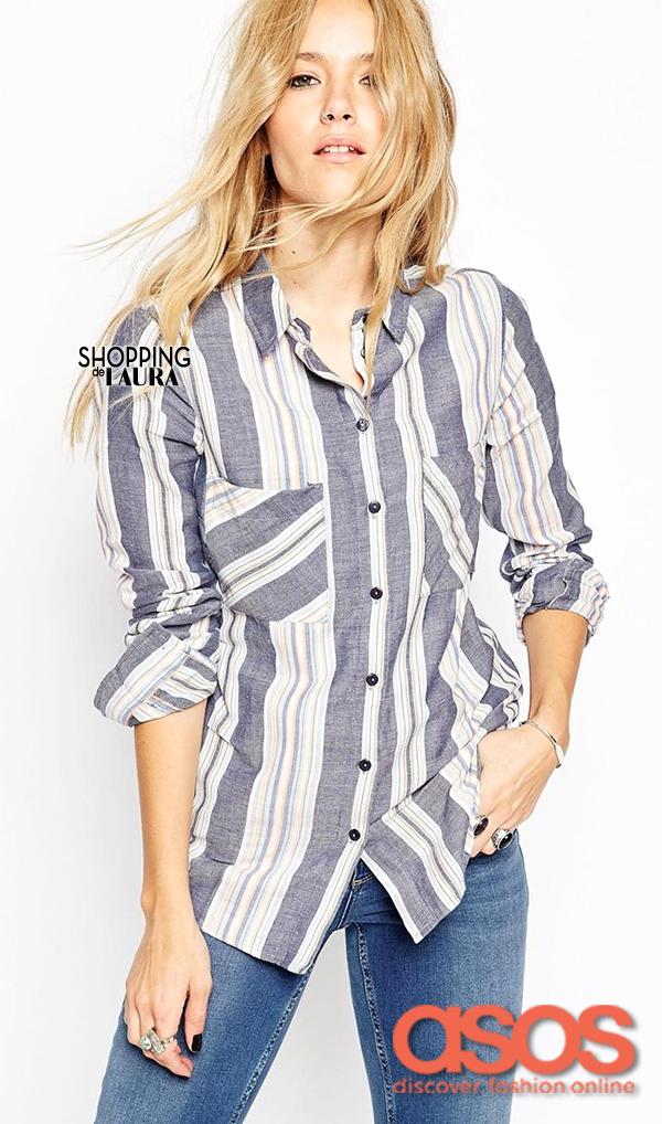 Chemise femme tendance : à rayures ASOS