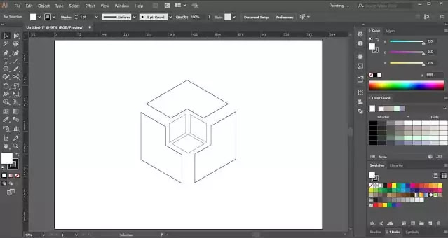 sides of cube