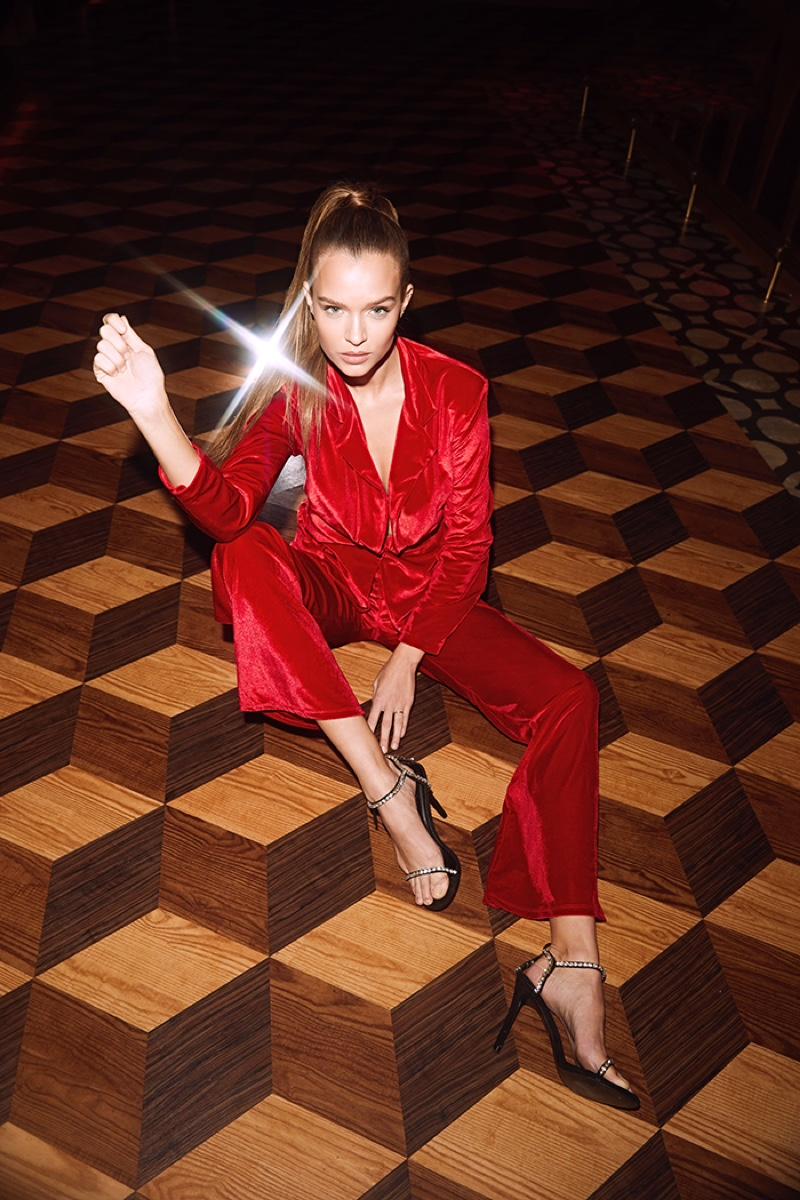 Josephine Skriver stars in Boohoo holiday 2019 campaign