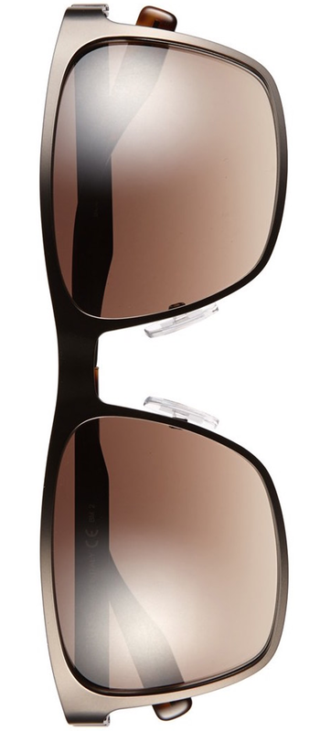 BOSS 57mm Polarized Sunglasses Matte Brown