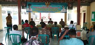 Babinsa Kareng Kidul Koramil 0820/07 Wonomerto  Hadiri Rapat Pilkades.