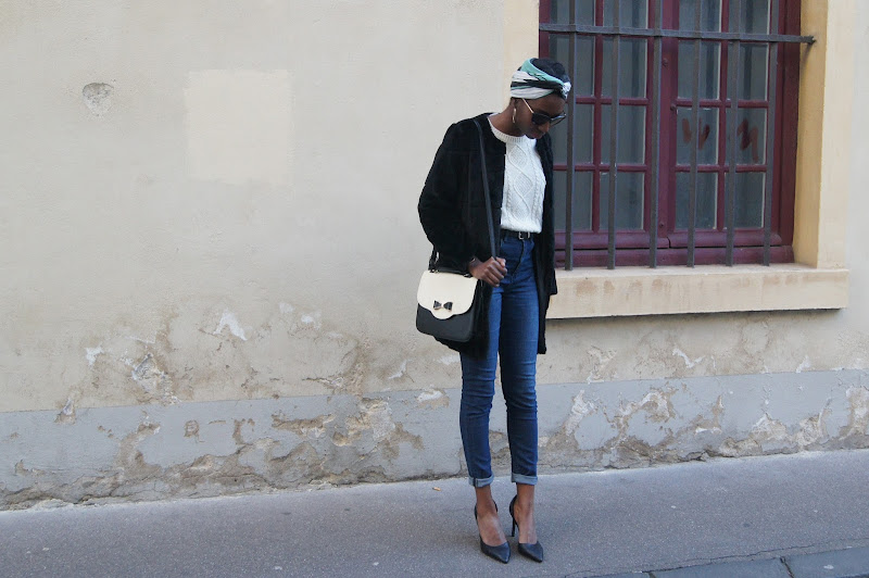 blog-mode-lyon-afro-foulard-look-retro-vintage-manteau-fourrure