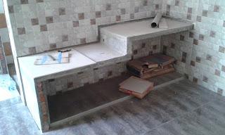 contoh top table kitchen menggunakan granite tile
