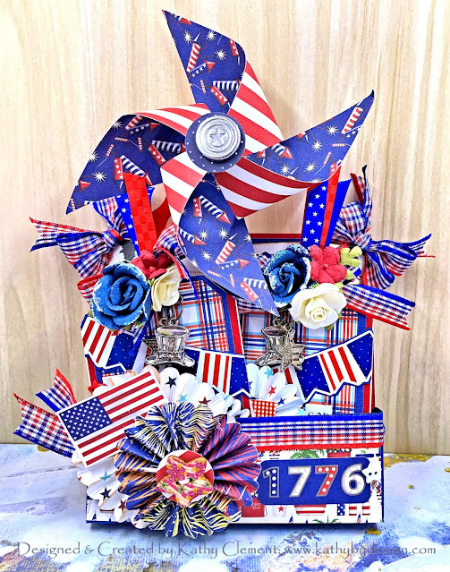 Really Reasonable Ribbon Patriotic Plaid Carta Bella God Bless America Kathy Clement