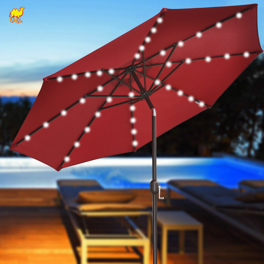 Patio Umbrella With Solar Lights HD Wallpaper and Desktop ...