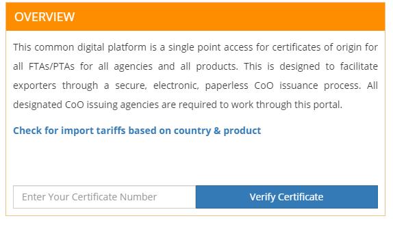 Tra cứu mẫu con dấu và chữ ký điện tử của C/O Form AI Ấn Độ