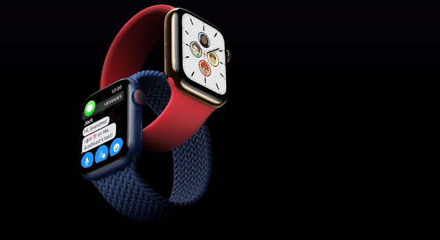 Apple Watch Series 6 colors Red and blue