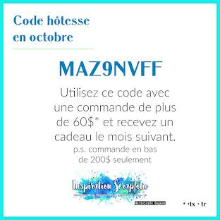 Code hôtesse du mois d'octobre