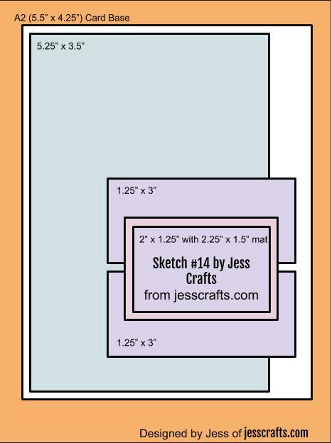 Card Sketch #14 by Jess Crafts