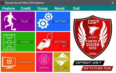 Patch PES 2016 Terbaru dari Garuda Soccer Patch 1.0