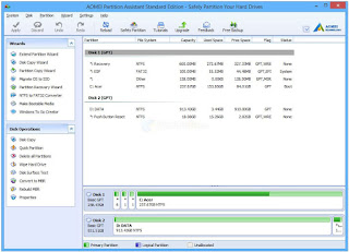 Formatting and partitioning hard disk with  AOMEI Partition Assistant 2020