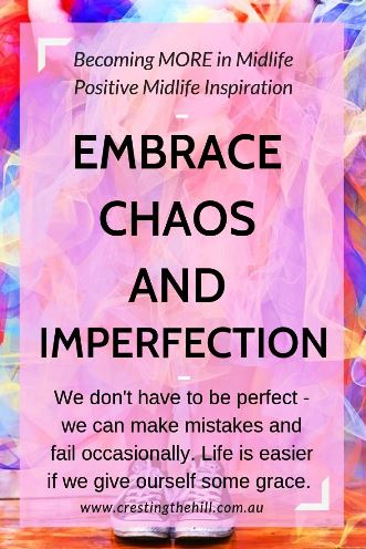 We don't have to be perfect - we can make mistakes and fail occasionally. Life is easier if we give ourself some grace. #letgo