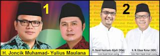 Dua pasang calon bupati dan wakil bupati kabupaten Empat Lawang 2018