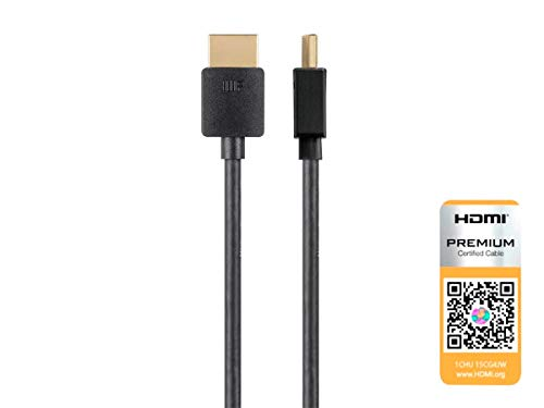 Supports Ethernet MMNNE 10inch 25CM HDMI Male to Male Cable,High-Speed HDMI HDTV Cable 3D Black