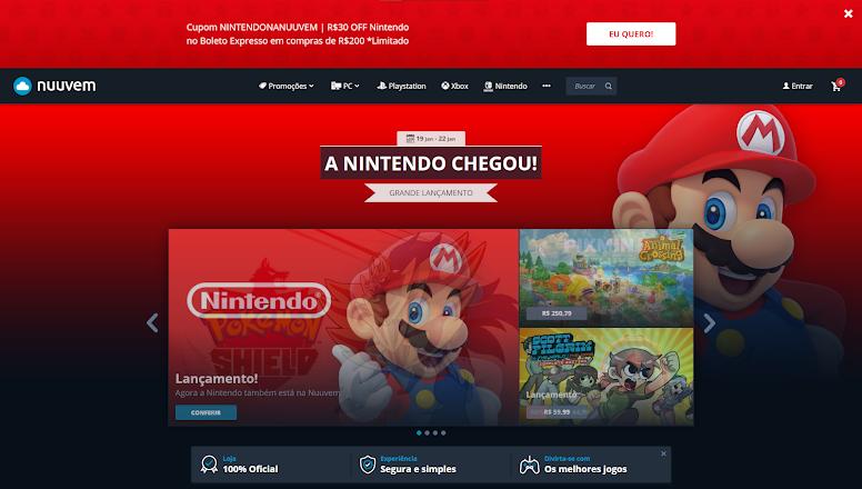 Nintendo Parceria Nuuvem