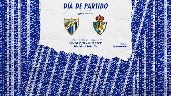 Málaga - Ponferradina, alineaciones posibles