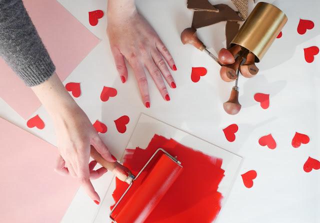Linogravures Saint-Valentin - Marion Romain