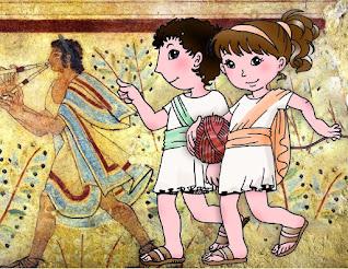 riassunto su infanzia e istruzione degli Etruschi