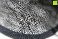 Stoff: Valdler Damen Fascinator Hut Mini-Hut Feder Ineinander greifen Netz Fasching Haarschmuck