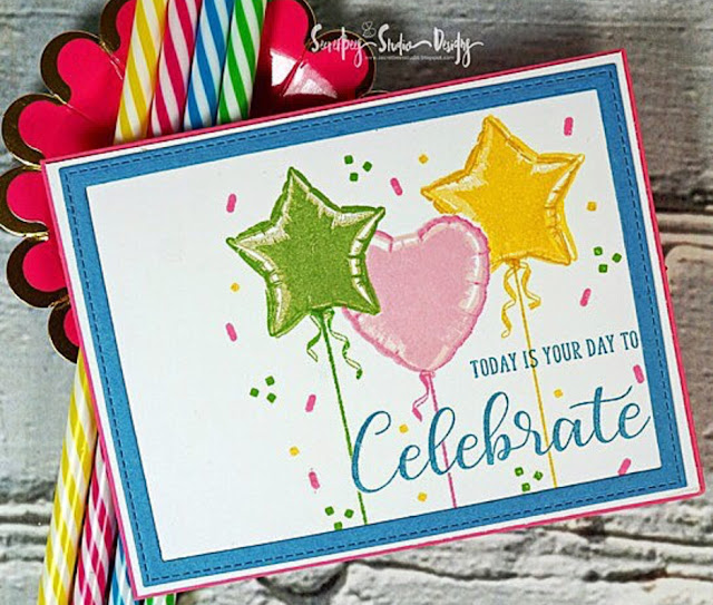 Sunny Studio Stamps: Bold Balloons Customer Card Share by Tara Chaussee