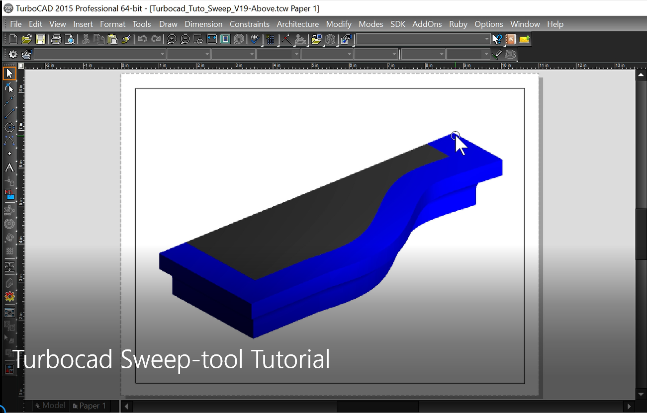 Turbocad Le Coffre Outils Cao The Cad Toolbox Turbocad Sweep