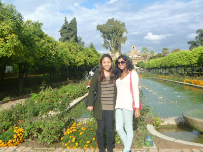 Rina and fellow NYU student in Spain