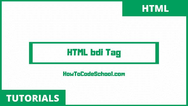 HTML bdi Tag