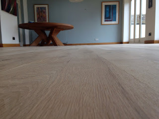Beautifully sanded oak floorboards