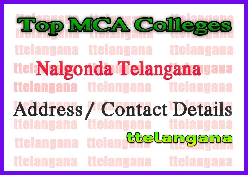 Top MCA Colleges in Nalgonda Telangana
