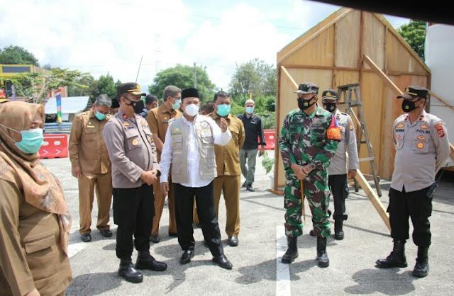 Dandim 0101/BS bersama Bupati Aceh Besar Kunjungi Pos Pelayanan Lebaran