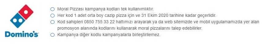 dominos pizza promosyonlar moral pizzası kampanya ve kodları
