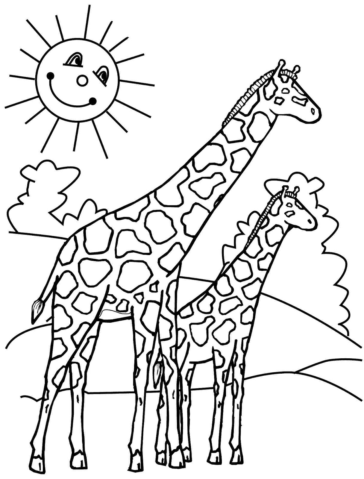 top 11 free printable giraffe coloring pages for kids