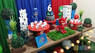 Decoração de festa infantil PJ Masks Porto Algre