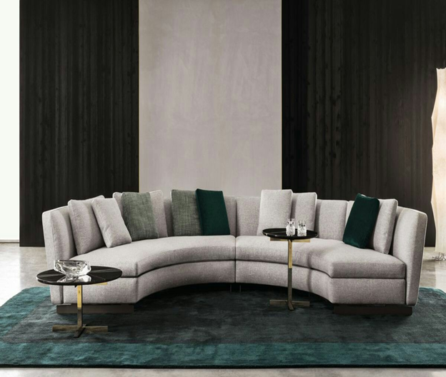 A curved sofa is an ideal furniture for many living rooms and entertainment rooms. The curved sofa also gives you more comfortable, attractive and relaxing living space for your family. It was available in different shape, sizes, colors, and materials. A curved sofa is easy to find perfect curved and easy to fit into your living rooms.