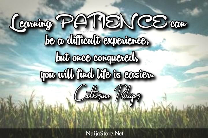 Catherine Pulsifer's Quote: Learning PATIENCE can be a difficult experience, but once conquered, you will find life is easier - Inspirational Quotes