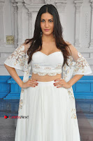 Telugu Actress Amyra Dastur Stills in White Skirt and Blouse at Anandi Indira Production LLP Production no 1 Opening  0085.JPG