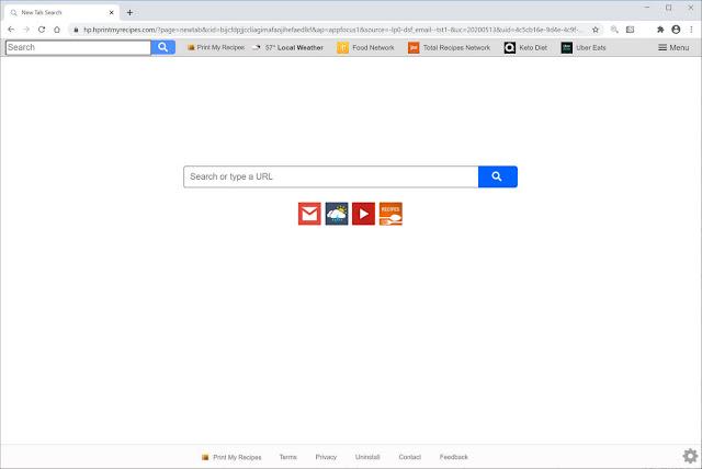 Search.hprintmyrecipes.com (Hijacker)