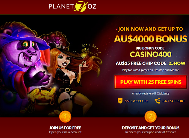 Planet7OZ Welcome Bonuses