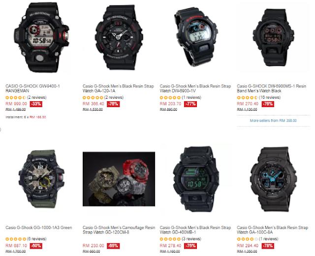 Lazada Malaysia Casio G-Shock Price