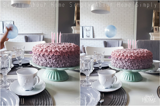 simply about home: Urodzinowy tort ombre rose DIY