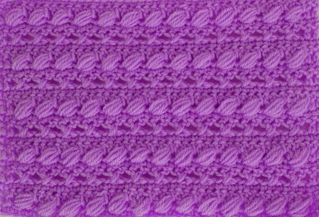 3 -Crochet Imagen Puntada combinada con punto puff especial para bufandas y canesús por Majovel Crochet