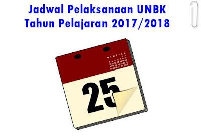 Jadwal Pelaksanaan UNBK Tahun Pelajaran 2017/2018