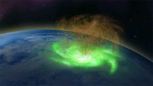 Για πρώτη φορά εντοπίσθηκε διαστημικός τυφώνας πάνω από τον Βόρειο Πόλο