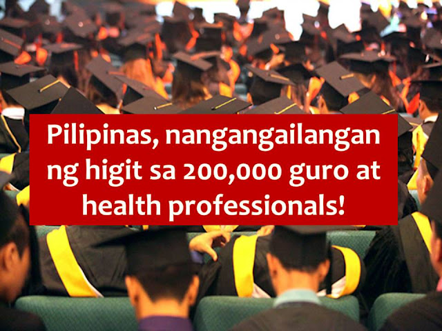In the Philippines, working in public sector is one of the dreams of many. It is because civil service workers in the Philippines is receiving a good pay plus good bonus compared to those who are working in the private sector.  That is why a lawmaker is calling for graduating high school student as well as first and second-year college student to consider taking courses in education and health sector.