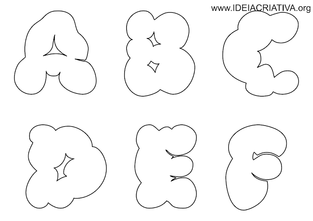Molde letras para montar murais e painéis