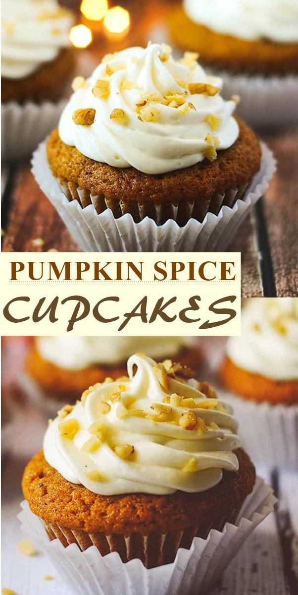 PUMPKIN SPICE CUPCAKES #cupcakerecipes